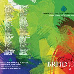 BRHD 41.YIL sergi davetiyesi birlesmis ressamlar ve heykeltraslar dernegi