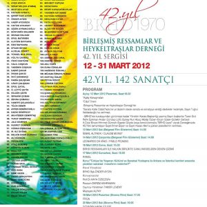 BRHD 42. YIL BÜYÜK SERGİSİ (2012) davetiye