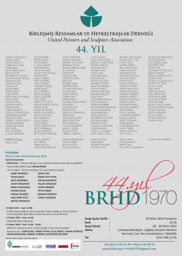 BRHD 44. yıl Büyük Sergi Afişi 2014