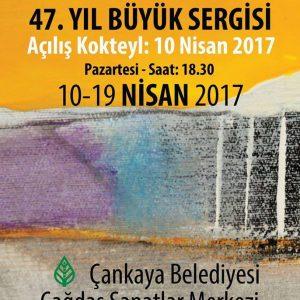 BRHD 47. yıl büyük sergi afişi davetiyesi