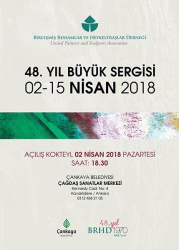 BRHD 48. YIL BÜYÜK SERGİSİ afişi