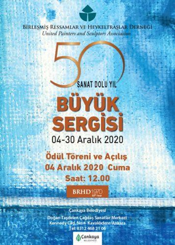 BRHD 50. büyük sergisi afişi
