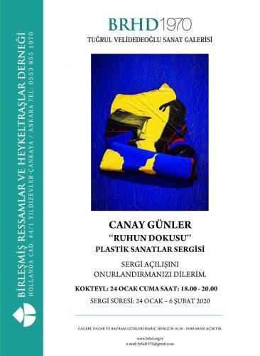 """Canay Günler """"Ruhun Dokusu"""" Plastik Sanatlar Sergisi"""