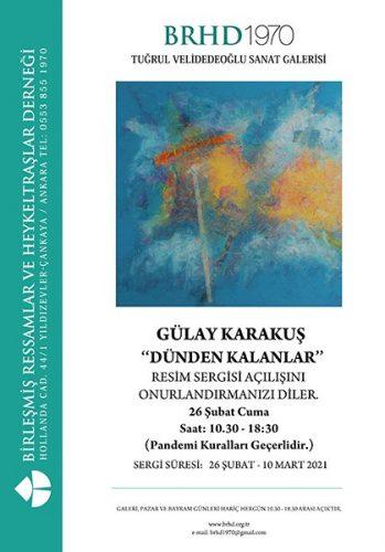 """Gülay Karakuş """"Dünden Kalanlar"""" Resim Sergisi"""