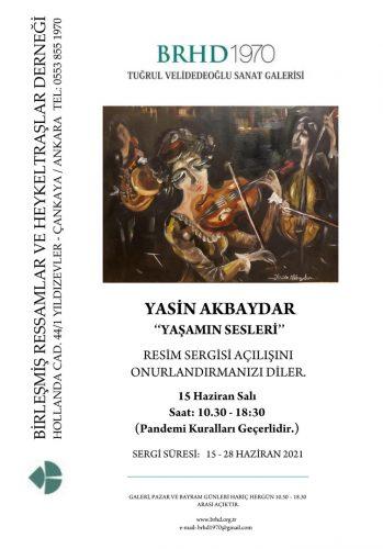 Yasin Akbaydar sergi afişi