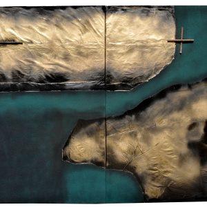 Açmayan Bahar-Tuval ÜzerineKolaj-Asamblaj,140x193x2cm,2018