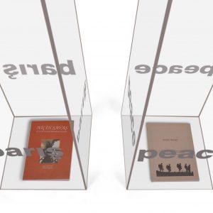 -Barış-Düzenleme-Pleksiglas 2Kutu - 110x25x25cm-Kitap,2016