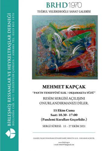 Mehmet Kapçak sergi afişi