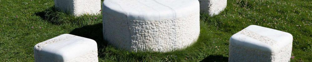 DÜŞÜNCE MASASI-MERMER YONTU, 250x250x80 cm, 2014