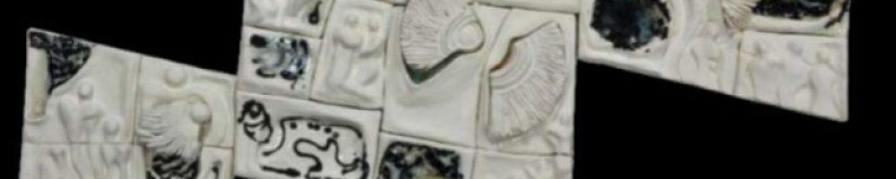 Üçleme Kompozisyon, (35x32)(54x50)(44x40), Elle Şekillendirme 1100xC